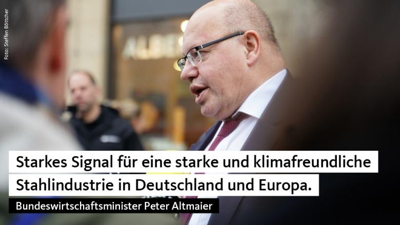Peter Altmaier zum Handlungskonzept Stahl