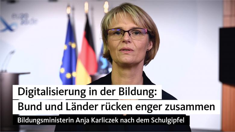 Anja Karliczek nach dem Bildungsgipfel