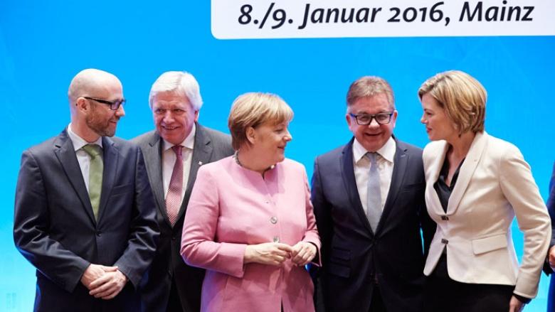 Angela Merkel eröffnet die Klausurtagung des CDU-Bundesvorstands in Mainz