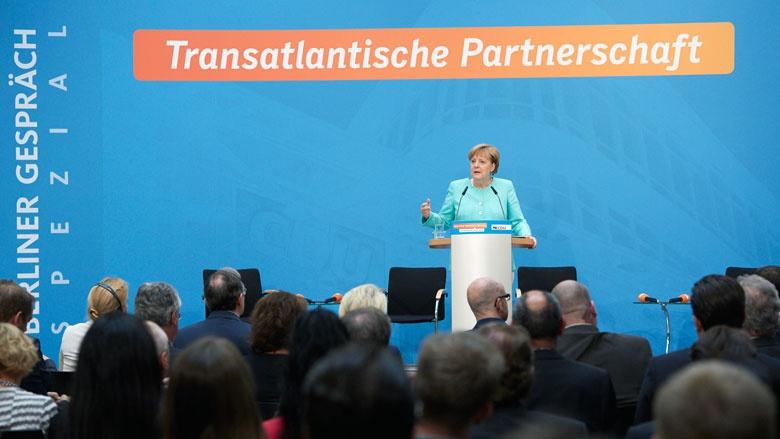 Angela Merkel beim Berliner Gespräch Spezial