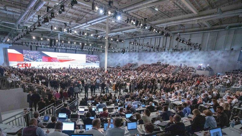 Blick auf den CDU-Parteitag in Hamburg.