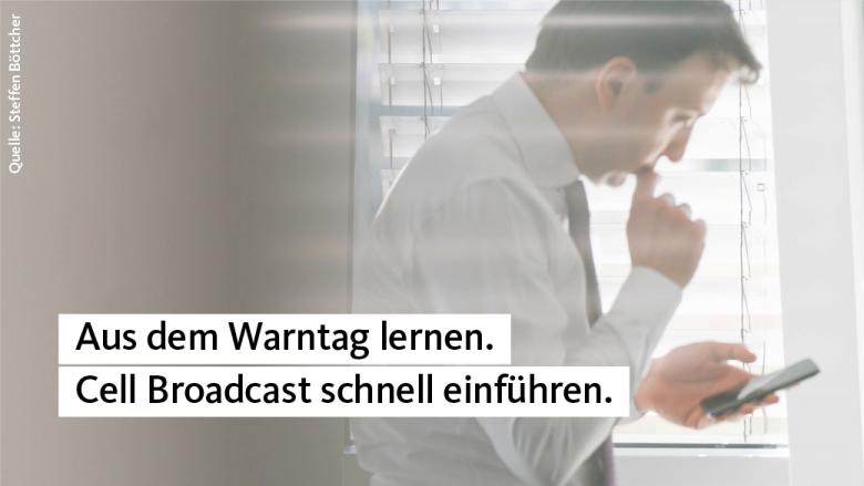 Paul Ziemiak: Cell Broadcast zur Warnung etablieren