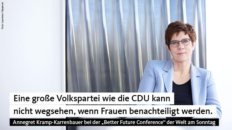 Annegret Kramp-Karrenbauer: Es geht um faire Chancen