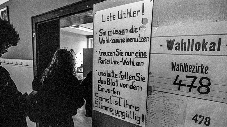 Erste und letzte freie Wahl der DDR-Volkskammer