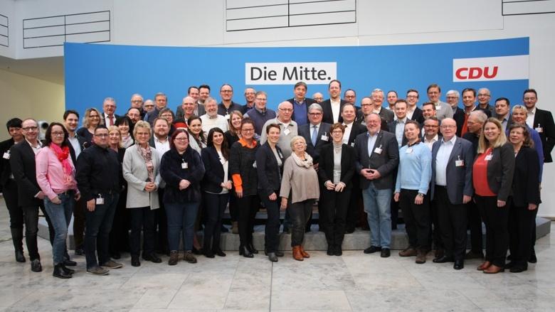 Die Mitgliederbeauftragtenkonferenz im Beisein der CDU-Vorsitzenden Annegret Kramp-Karrenbauer