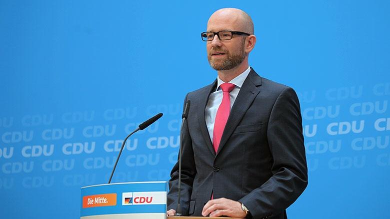 CDU-Generalsekretär Peter Tauber vor Journalisten in Berlin