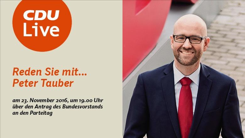 CDU Live mit Generalsekretär Peter Tauber