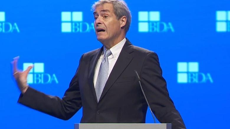 BDA-Präsident Ingo Kramer läutet mit seinem Grußwort den Arbeitgebertag 2019 ein