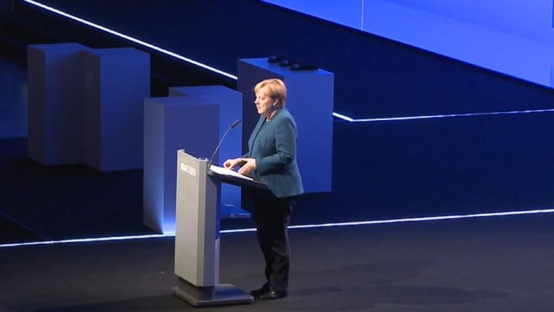 Bundeskanzlerin Angela Merkel während ihrer Rede auf dem Arbeitgebertag des BDA