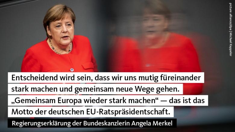 Regierungserklärung Angela Merkel