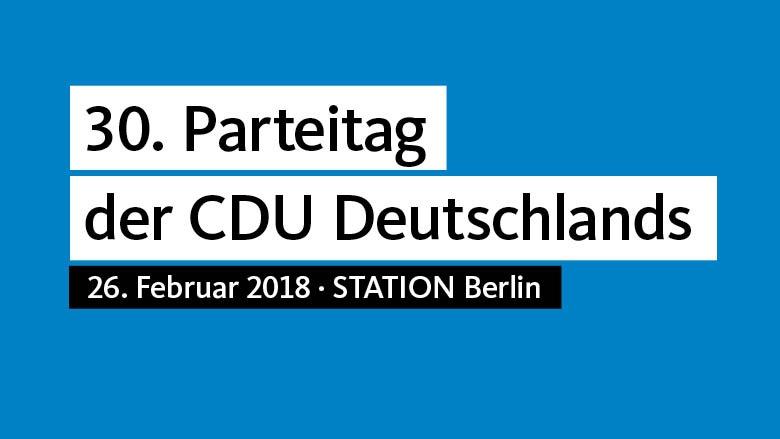 30. Parteitag der CDU Deutschlands 2018