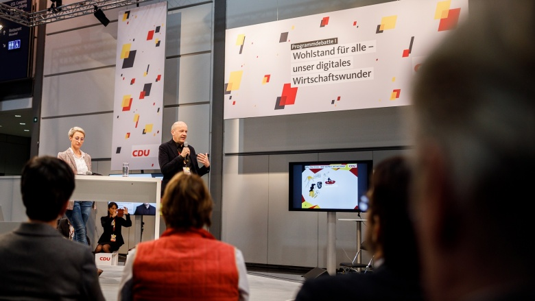 """Programmdebatte """"Wohlstand für alle – unser digitales Wirtschaftswunder"""""""
