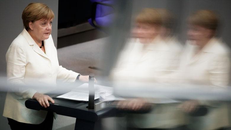Regierungserklärung von Bundeskanzlerin Angela Merkel im Deutschen Bundestag