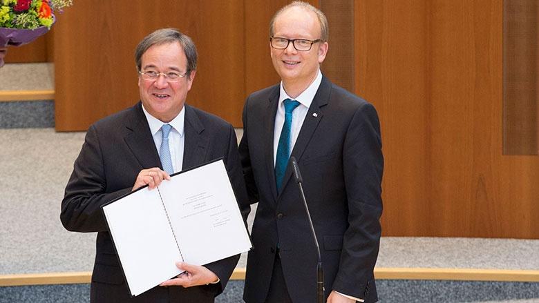 Ministerpräsident Armin Laschet und Landtagspräsident André Kuper