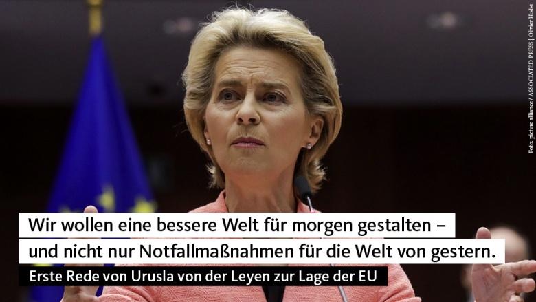 Ursula von der Leyen bei ihrer Rede