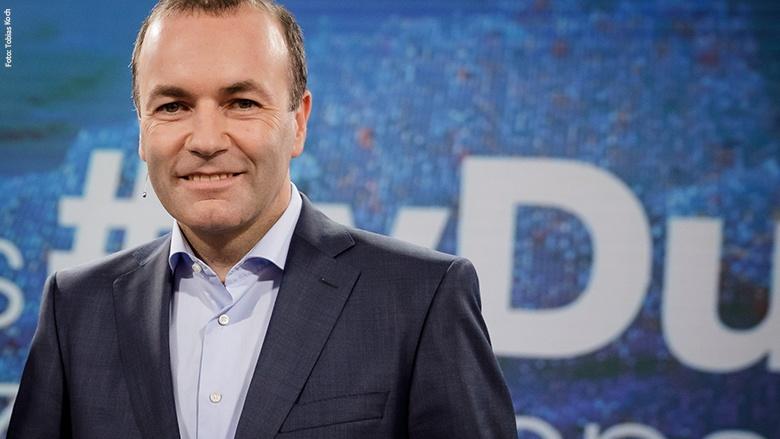 TV-Duell im ZDF mit Manfred Weber