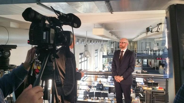 CDU-Generalsekretär Peter Tauber beim Interview mit Reuters
