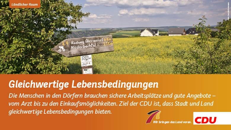 CDU, ländlicher Raum, Land, Stadt, Netz, Wirtschaft