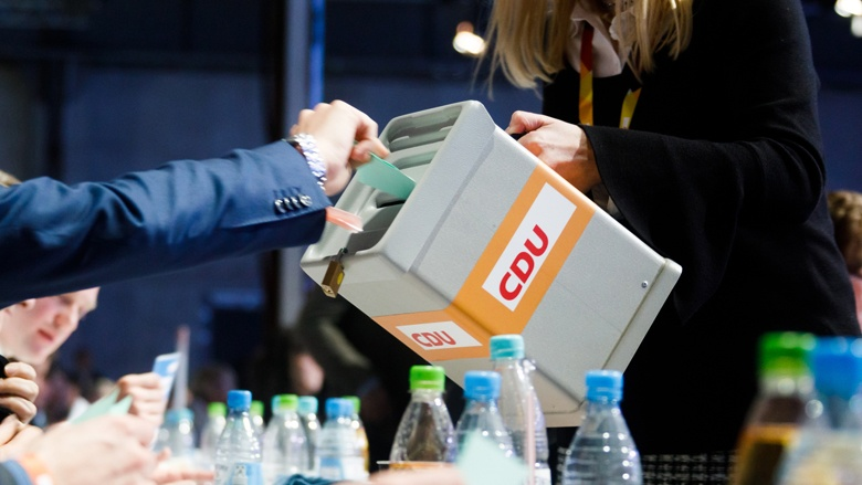 Impressionen vom 30. Parteitag der CDU / Abstimmungsurne