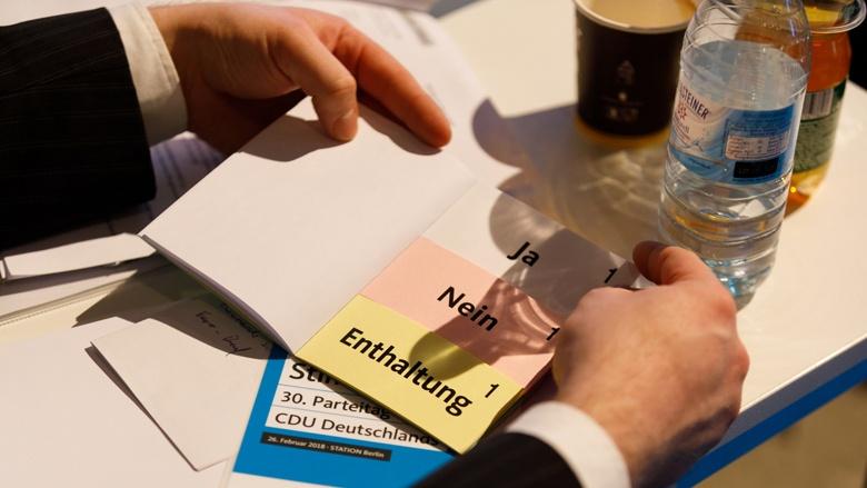Impression vom 30. Parteitag der CDU