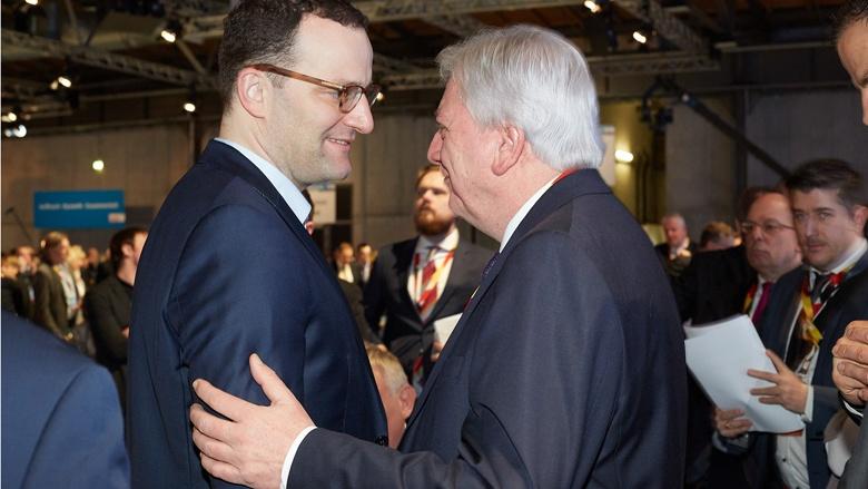 Impressionen vom 30. Parteitag der CDU / Jens Spahn und Volker Bouffier