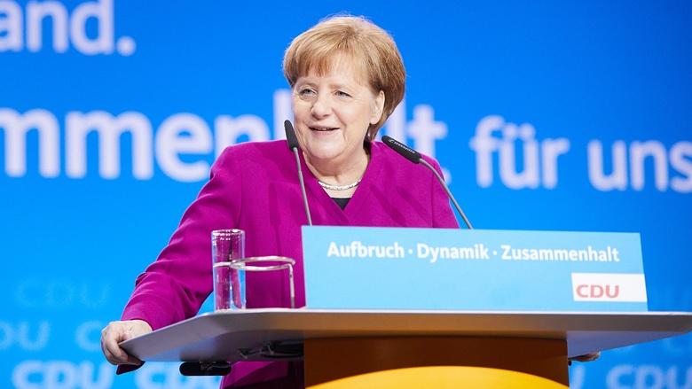 CDU-Chefin, Bundeskanzlerin Angela Merkel während ihrer Rede zum 30. Parteitag der CDU in Berlin