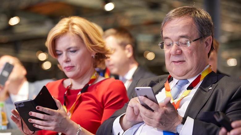 Impressionen vom 30. Parteitag der CDU / Julia Klöckner und Armin Laschet