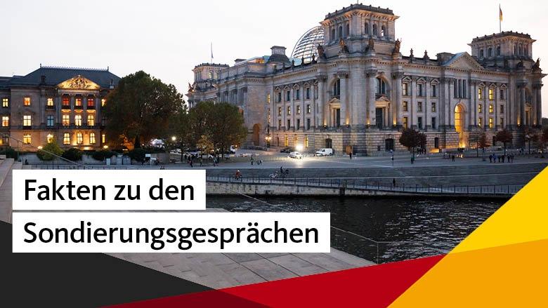 Fakten zu den Sondierungsgesprächen von CDU, CSU, FDP und Bündnis'90/Die Grünen