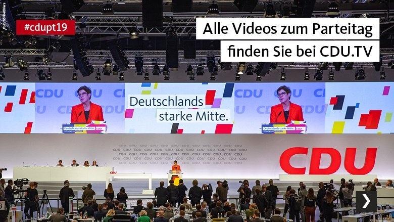 Alle Videos zum Parteitag finden Sie bei CDU.TV