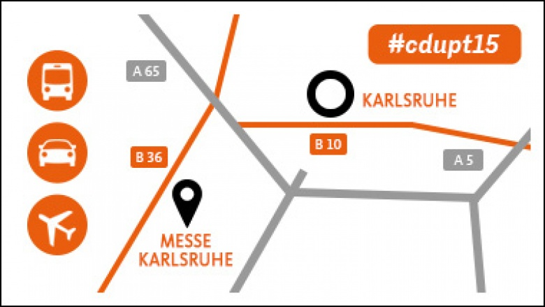 Anfahrt zum Parteitag Karlsruhe