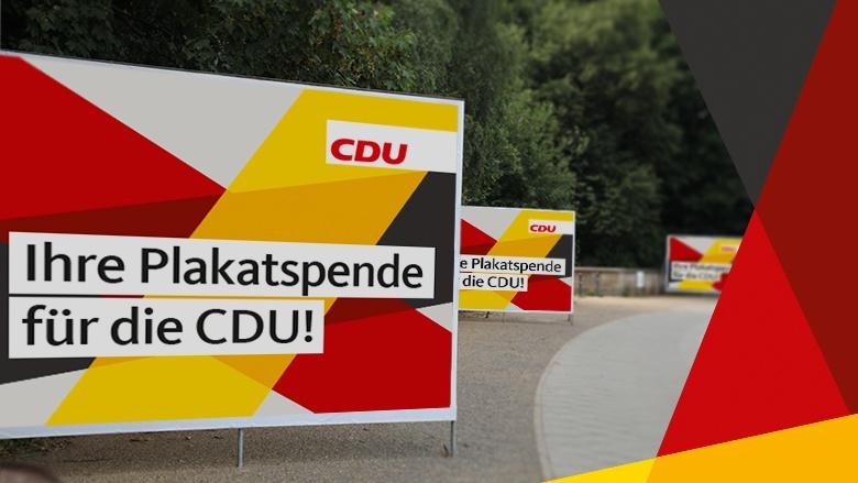 Ihre Plakatspende für die CDU!