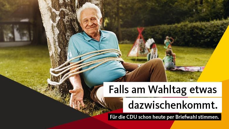 Falls am Wahltag etwas dazwischenkommt. Für die CDU schon heute per Briefwahl wählen.