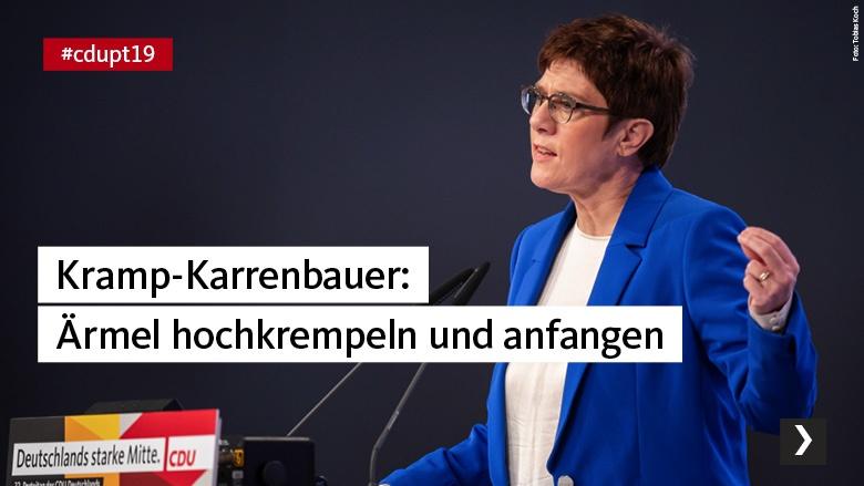 Kramp-Karrenbauer: Ärmel hochkrempeln und anfangen