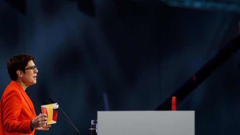 CDU-Vorsitzende Annegret Kramp-Karrenbauer während ihres Schlussworts an den 32. Parteitag der CDU Deutschlands