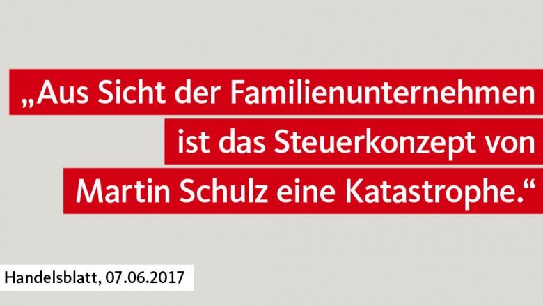 Steuerkonzept von Schulz für Familienunternehmen eine Katastrophe