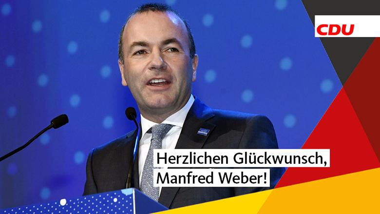 Herzlichen Glückwunsch, Manfred Weber!