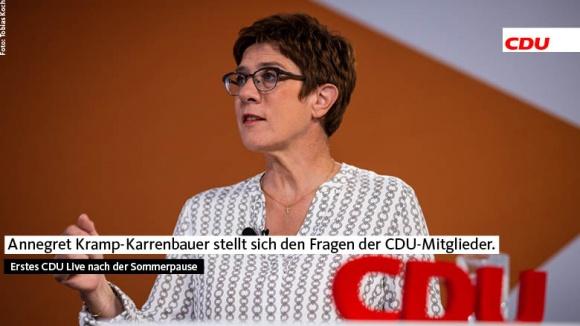CDU Live mit Annegret Kramp-Karrenbauer