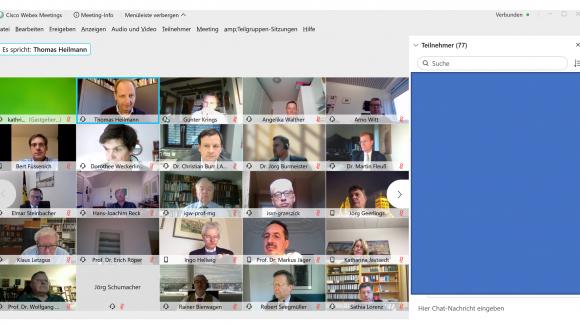 Digitale Mitgliederversammlung am 04.12.2020