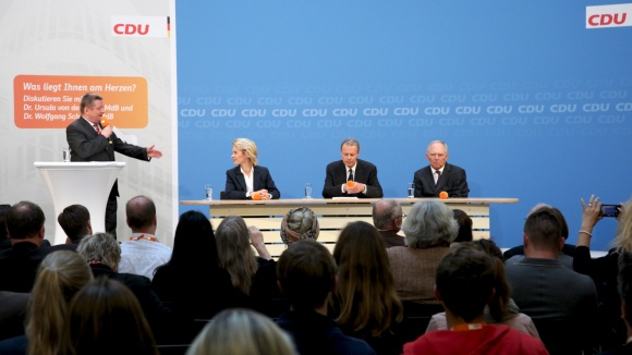 Werkstattgespräch mit Ursula von der Leyen und Wolfgang Schäuble