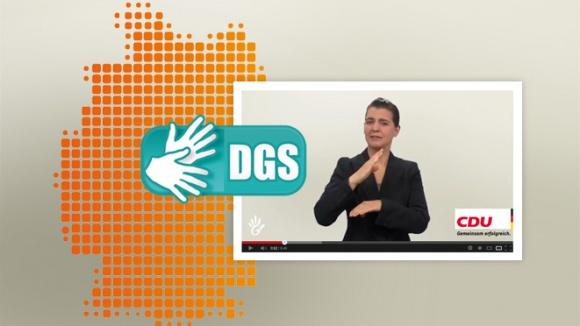 Das Regierungsprogramm in Gebärdensprache (DGS)
