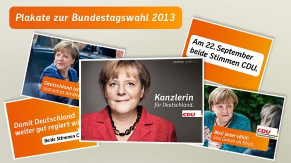 Parteiplakate und Großflächen zur Bundestagswahl 2013