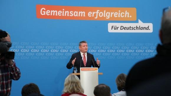 CDU-Generalsekretär Hermann Gröhe nach der Pressekonferenz des Präsidiums der CDU Deutschlands