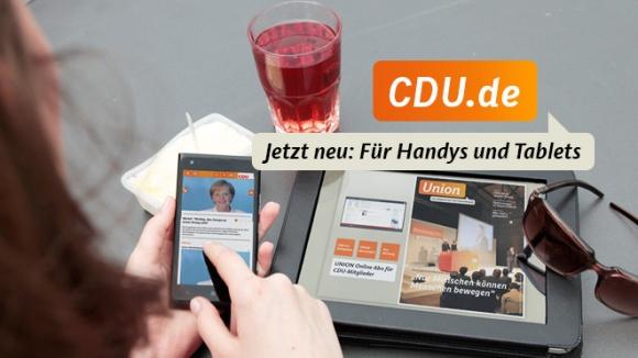 Die mobilen Angebote der CDU Deutschlands