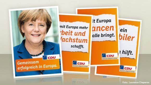 Parteiplakate zur Europawahl 2014