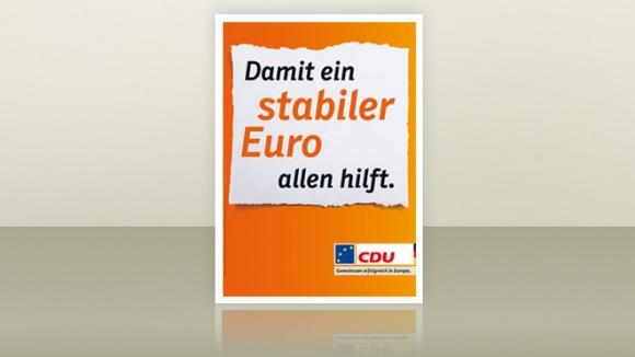 Parteiplakat zur Europawahl 2014