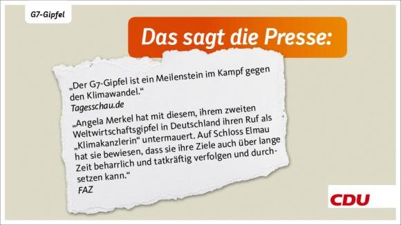 """""""Ein Meilenstein"""" - Stimmen zum G7-Gipfel"""