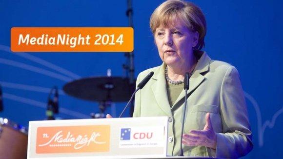Angela Merkel bei der MediaNight 2014