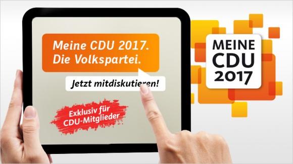 Meine CDU 2017: Jetzt mitdiskutieren!