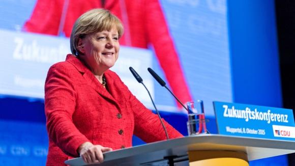 Angela Merkel bei der ersten Zukunftskonferenz