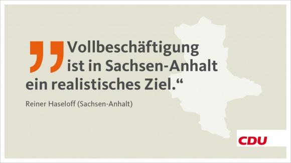 Sachsen-Anhalt: Vollbeschäftigung ist ein realistisches Ziel